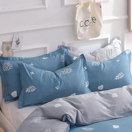 棉立方家纺 新款全棉单枕套 米罗兰