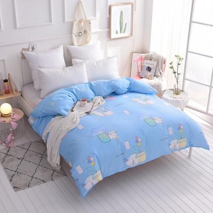棉立方家纺 新款全棉13070单品被套系列单被套可爱猫