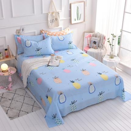 棉立方家纺 新款全棉单床单 菠萝