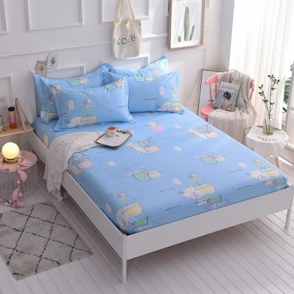 棉立方家纺 床笠系列新款全棉单品床笠系列单床笠可爱猫