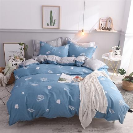 棉立方家纺 新款系列全棉床笠四件套 米罗兰