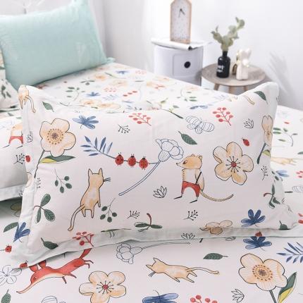 (总)棉立方家纺 新款全棉单枕套一对