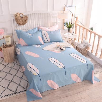 棉立方家纺 新款全棉单品床单系列单床单 彩色羽毛