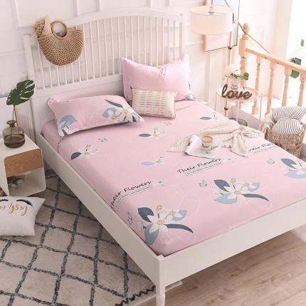棉立方家纺 床笠系列新款全棉单品床笠系列单床笠 那些花儿粉