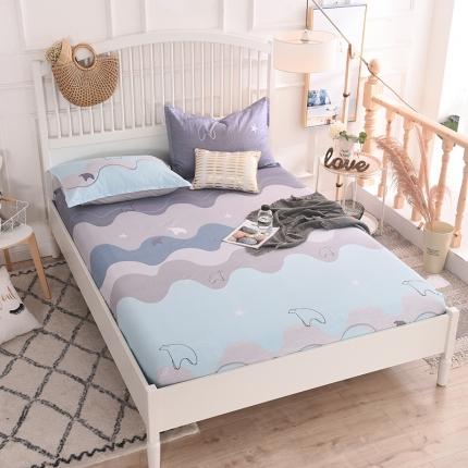 棉立方家纺 床笠系列新款全棉单品床笠系列单床笠 玩味时尚绿