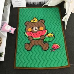 茱罗纪家纺 卡通加厚爬爬垫地垫西瓜熊
