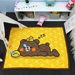 茱罗纪家纺 卡通加厚爬爬垫地垫芝士熊