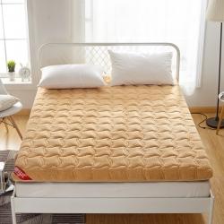艾尚床垫 2019新款羊羔绒加厚床垫 驼色