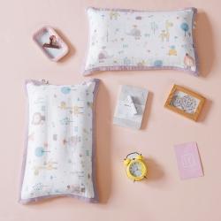 具小象的枕头店 具小象枕套特供花研系列-双层纱 森林伙伴