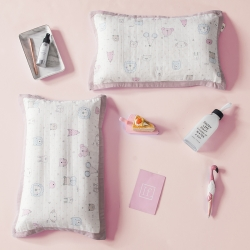 具小象的枕头店 具小象枕套特供花研系列-双层纱 香椿丛林