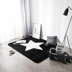 凤凰林客厅地毯地垫茶几垫飘窗垫脚垫防滑垫大版黑星星