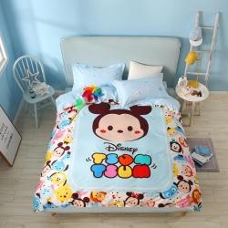 熊孩子家居 迪士尼大版系列13372四件套米奇蓝