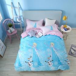 熊孩子家居 迪士尼系列13070四件套公主蓝