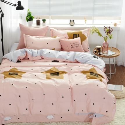 (总)�B柔家纺 13370全棉活性印花四件套床笠款