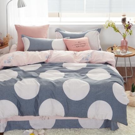 �B柔家纺 13370全棉活性印花四件套床单款风情无限