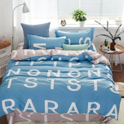 �B柔家纺 13370全棉活性印花四件套床单款宜家