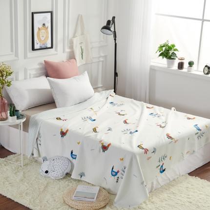 �B柔家纺 天竺棉印花系列夏被空调被鸡叽叽