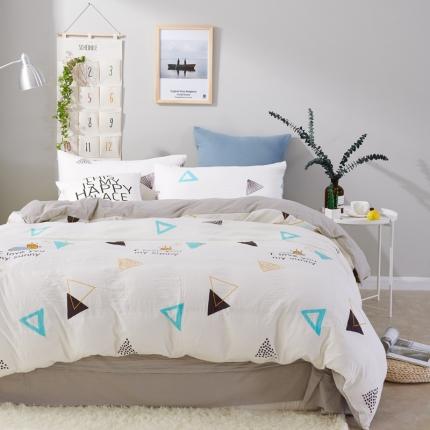 �B柔家纺 活性印染水洗棉四件套床单款好心情