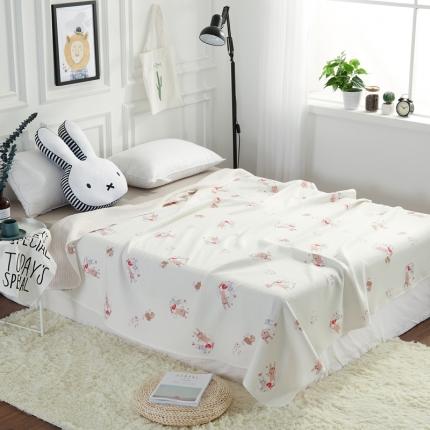 �B柔家纺 天竺棉印花系列夏被空调被萌兔兔