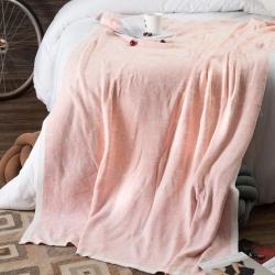 暖绵绵家纺 贝蒂毛毯针织毯 贝蒂粉