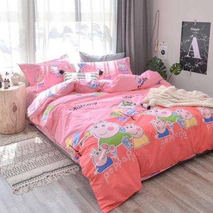 学生宿舍三件套 床单被套 2018ins小清新四件套小猪佩奇