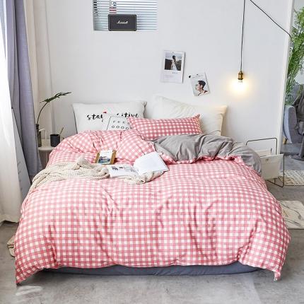 初识家纺 13372纯棉+宝宝绒静美系列四件套床单款 红调