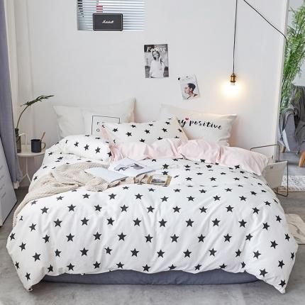 初识家纺 13372纯棉+宝宝绒静美系列四件套床单款 满天星