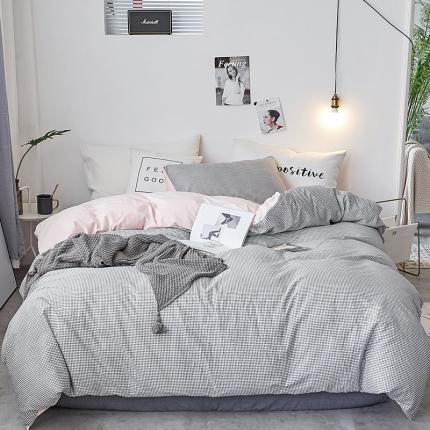 初识家纺 13372纯棉+宝宝绒静美系列四件套床单款 千茴