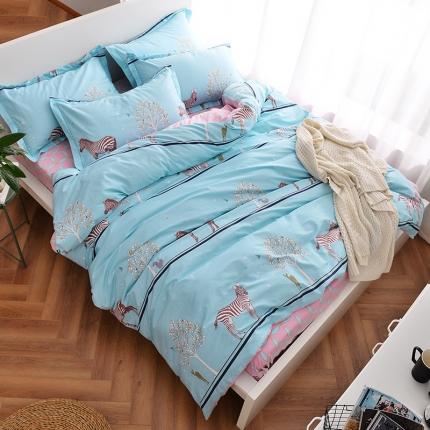 (总)摩妮卡 100%纯棉北欧宜家风简约四件套 床单款