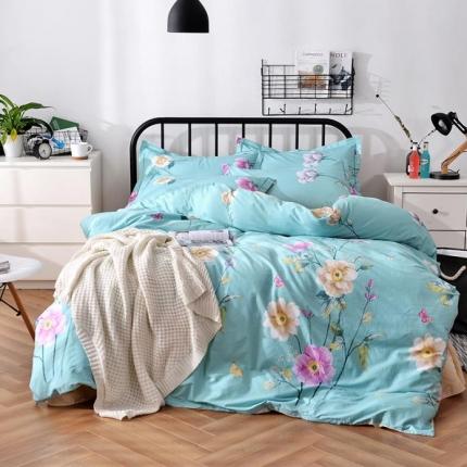 (总)摩妮卡 100%纯棉北欧宜家风花卉 床单款四件套
