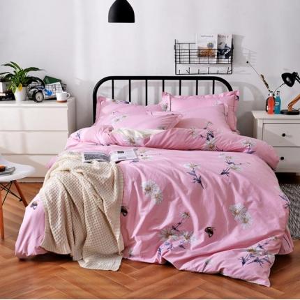 摩妮卡 100%纯棉北欧宜家风花卉 床单款四件套 向阳花开