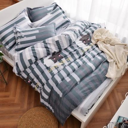 摩妮卡 100%纯棉北欧宜家风简约四件套 床单款 星月之恋