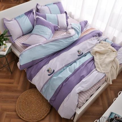 摩妮卡 100%纯棉北欧宜家风简约四件套 床单款 英伦时代