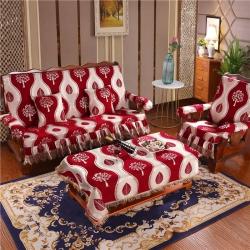 (總)新款實木沙發坐墊加厚海綿沙發墊雪尼爾大裙擺