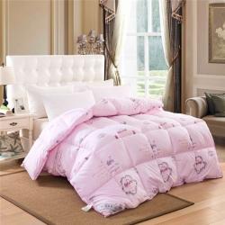美丝居家纺 精品羽绒被粉色