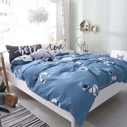棉语家纺 全棉ABC三版卡通风四件套床单款 皇家风尚