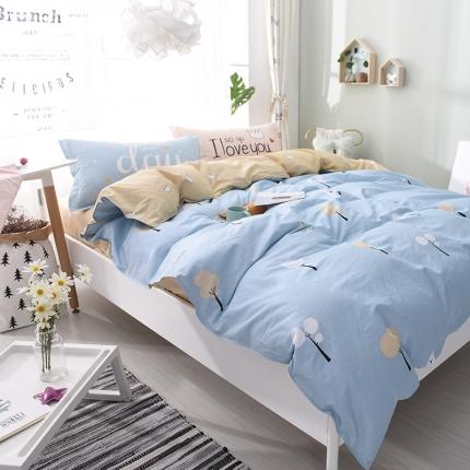 棉语家纺 全棉ABC三版卡通风四件套床单款 美好心情