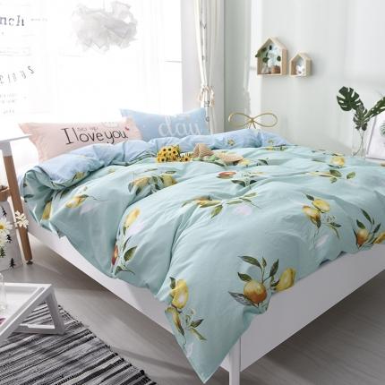 棉语家纺 全棉ABC三版卡通风四件套床单款 柠檬派对
