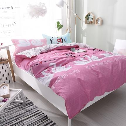 棉语家纺 全棉ABC三版卡通风四件套床单款 水晶芭蕾