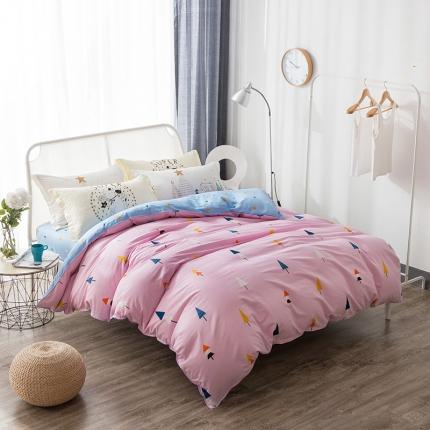 棉语家纺 全棉ABC三版卡通风四件套床单款 香韵清风