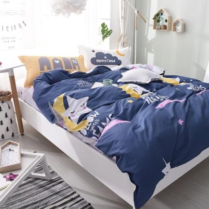 棉语家纺 全棉ABC三版卡通风四件套床单款 星月梦想
