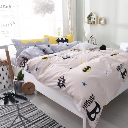 棉语家纺 全棉ABC三版卡通风四件套床单款 月夜童话