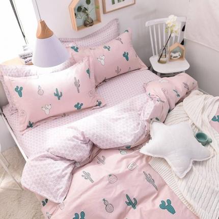 棉语家纺致青春系列13070全棉小清新四件套床单款仙人恋