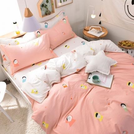 棉语家纺致青春系列13070全棉小清新四件套床单款 美乐滋