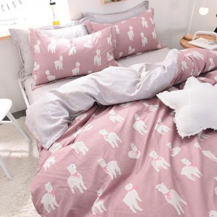 棉语家纺致青春系列13070全棉小清新四件套床单款 绵绵细雨