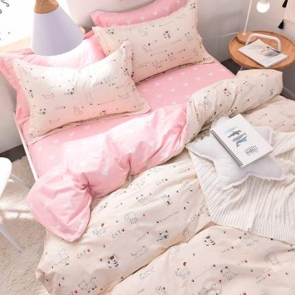 棉语家纺致青春系列13070全棉小清新四件套床单款 公主梦