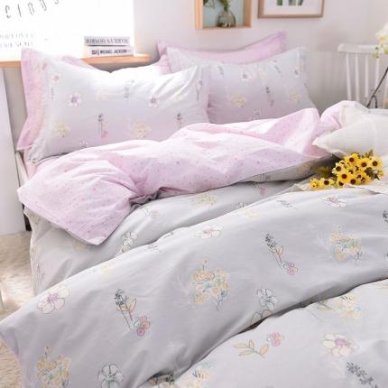 棉语家纺致青春系列13070全棉小清新四件套床单款 朵然