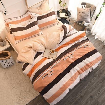棉语家纺 全棉生态磨毛四件套床单款杰西卡