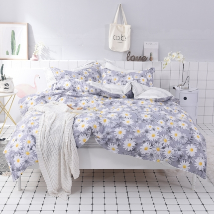 (总)棉语家纺 简约时尚全棉三件套床单款