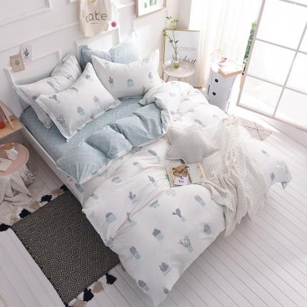 (总)棉语家纺 简约时尚全棉三件套床笠款